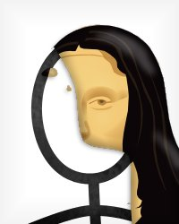 Mona Lisa Stick Figure